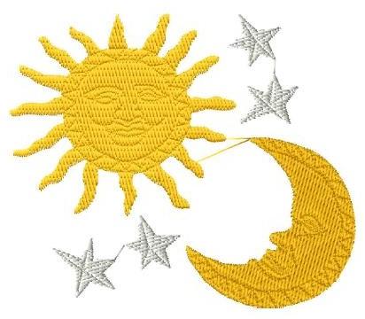 Sun Moon and Stars Motif