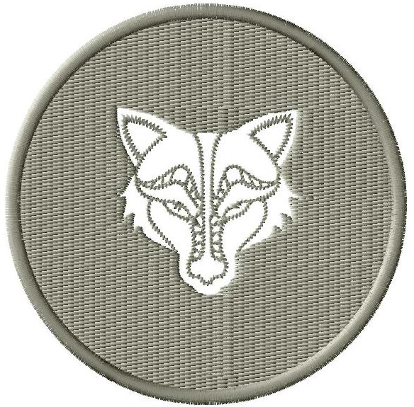 Wolf Head Medallion Design